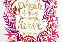 Wise Words & Pretty Posters and Prints / by darcey B