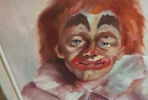 Very Sad and/or Angry Clowns / A friend sent me a picture of a sad and slightly angry clown. I realised this was what was missing from my life and more importantly, from my Pinterest. That picture is the cover of this board.