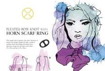 How to Wear Scarf Rings - Scarf Cards / It's no secret we love scarf rings and to show how contemporary and versatile they are as an accessory for your wardrobe we've been working with a talented young Kiwi artist, Amanda Bennett, to create a series of beautiful 'how to' cards.  Each Scarf Ring card from ScarfRing.com illustrates just how easily scarf rings can transform a look into a unique style with simple step-by- step instructions.