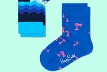 Spring Summer 2016: Kids / Happy Socks offers its colorful design socks in children's sizes. Using a modified color palette that fits the sophisticated, stylish needs of kids today. Designs reflect the bright, pattern-driven aesthetic of Happy Socks adult line.