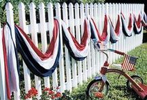 Red, White, and You / Things I've found for the patriotic holidays... celebrating red, white, and blue with vintage!