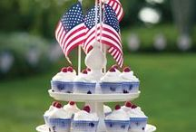 4th of July (Independence Day) / Memorial Day / Recipes, crafts, styles ... all relating to the Red, White, and Blue holidays of the United States of America!