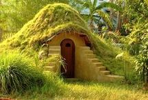 Cabins & Tiny Houses / I love tiny houses and cabins! Here's a collection of homes and things to decorate them with. One day I hope to have a hobbit home, even if it's just a hole in a hill in my back yard. :D