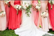 KJP Weddings | Coral, Peach, Pink, Blush Tones / Inspiring Wedding Colors : Coral Peach & Pinks Ideas for brides planning and stying Coral, Peach and Pink infused weddings. Decor, florals, dresses, jewelry, etc. From Katelyn James Photography