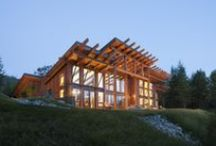 Modern Mountain Homes / PrecisionCraft's in-house firm, M.T.N Design, is excited to introduce a new line of floor plan concepts using their trademark architectural style of mixing wood, stone, glass and metal to create modern mountain log and timber homes.  / by PrecisionCraft Log and Timber Homes