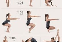 Yoga Poses & Yoga Workout / Sometimes I get lazy and looking at great yoga infographics, yoga workouts and yoga poses somehow get me back on my mat.