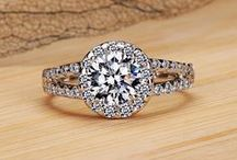 Engagement Rings <3 / The moment when your love just gets magnified ... The rings says volumes of your love ..