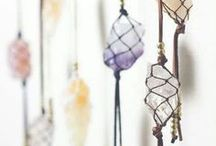 Gemstone Decor / gemstones have healing powers when you wear them, why not incorporate them into your home decor as well?