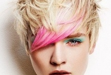 colorful hair / loving adding color even to hair....