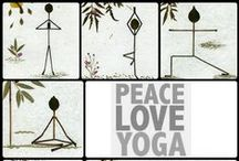 """Peace, Love, Yoga / """"Yoga teaches us to cure what need not be endured, and endure what can not be cured."""" -BKS Iyengar"""