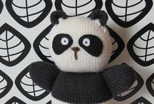 Pandas / Black and white and squidgy crafts