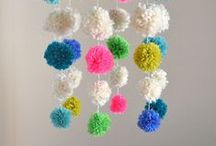 Pompoms / pompom tutorials and crafts