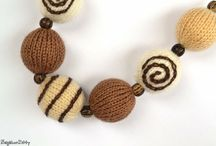 Chocolate / chocolate coloured wool crafts ....yummy!