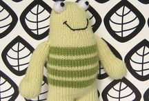 Monsters / friendly monsters to knit, crochet and sew
