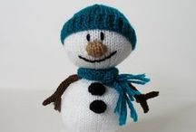 Snowmen / knit and crochet cute snowmen (and women!)