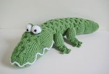 Crocodiles / Knitted snappy chaps