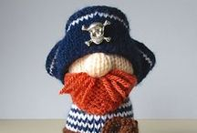 Pirates / Knit and crochet pirates.... A-ha me hearties!