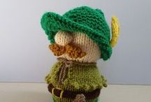 Robin Hood / Knit and crochet crafts with a Robin Hood theme