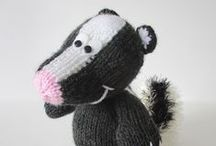 Skunks / Knit and Crochet Skunks