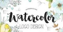 4. watercolor logo design - creative logo branding for creative people / watercolor logo design - creative logo branding for creative people - logo design by ParisStudio36.com