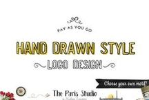 4. Hand Drawn Style Logo Design / Hand drawn style logo design for creative business branding, creative professionals, designers and artists - check out TheParisStudio.com to see our portfolio!
