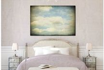 decorating with art. ideas for hanging art. photograph display. / Decorating with art in your home. Ideas for hanging art, framing photographs. Displaying photographs and prints.