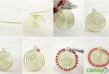 JOYAS-ALAMBRE 2 / Tutoriales e ideas para hacer bisutería con alambre/Diagrams, tutorials and some ideas for making wire jewelry