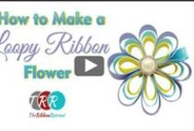FABRIC FLOWERS / Flores de tela. Flowers made with felt, ribbon, wools, satin....