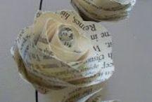PAPER FLOWERS / Flores hechas con papel / by Andaira- Esquemas de Bisutería y Manualidades