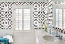 Black & White Decor / www.brewsterwallcovering.com