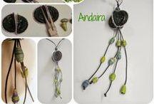 JOYAS-NESPRESSO 2 / Tutoriales e ideas para hacer pequeñas joyas con cápsulas  nespresso / by Andaira- Esquemas de Bisutería y Manualidades *