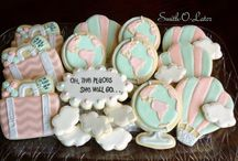 Travel Theme Baby Shower / Cookie design inspiration for Baby Travel Theme