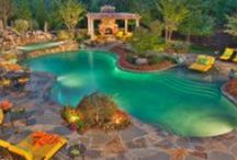 Pool Landscapes / Helping you with ideas for landscaping around your pool.