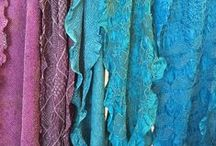 Bandhani resist dyed silk and cotton / Bandhani is an ancient tie-dye technique of India. We have Jabbar in the shop for a trunk show and workshop of these stunning scarves and shawls