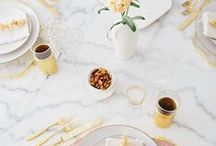 Trending: Marble / Discover the beauty of marble with this assortment of both faux and real marble decorating ideas!