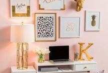 Think Pink / Rooms and home decor using hot, neon, blush, and every pink shade in between!
