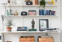 Stylish Shelves / Bring style to your shelves with these creative and fun decorating ideas