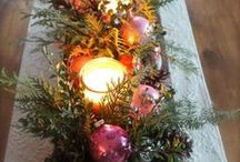 Holiday Table Decor / Set the holiday mood with the latest table decor trends. From ornaments to snowflakes, you'll love these creative centerpieces!