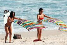 Beach accessoires / Brazilian beach towel  A Canga is an essential item for your beach bag!  It is a long towel with good quality material.