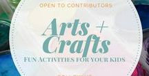 || Arts & Crafts for Kids || / Art and craft activities for babies, toddlers, and preschoolers- kid friendly, processed based art projects.   Email momsquaddaily@gmail.com to join!   Process based art and crafts only please, nothing that requires a parents hand in creating it. Pin 1:1 ratio, vertical pins only.