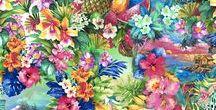 FLOWERS / We love flowers ! Hair, design, print, swimwears, art !