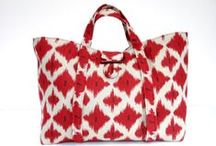New Bags for 2014 / First new bags in red ikat for 2014!