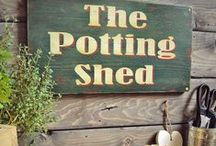 Potting Sheds / Dirt, plants, gardening.... / by Heather Marie