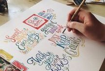 Hand Lettering / DIY projects, hand lettering