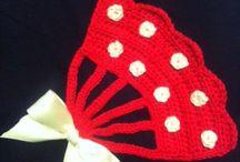 Aplicaciones de crochet y tela