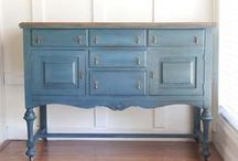 Painted furniture, mostly chalk paint / by Donna Ellison