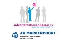 ABK AH Markenpoort Almere / Advertenties op de schermen van AdverterenBovenKassas.tv in Albert Heijn Markenpoort in Almere Haven