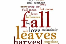 My Favorite Time of Year...Fall