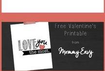 Valentines / Valentine Day and Craft IDEAS I Love!