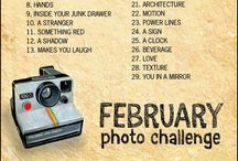 photo challenges 2014 / Rules: all photos must be taken on phones, must be taken the day of unless you started late, and no filters! / by Meera Gomer